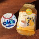 ヨーグルトにコストコの『蜂蜜入り柚子茶』入れました!