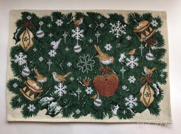 ニトリで冬デザインのランチョンマット「バーズラリー」を買いました!