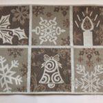 ニトリで結晶デザインの冬用ランチョンマット買いました!