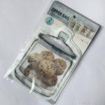 100均セリアの『マチ付きジッパーバッグ』が瓶デザインが可愛い!