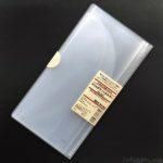 無印良品の『スリムチケットホルダー(A4三ツ折りサイズ)』がコンパクトなファイル!