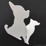 100均キャンドゥの『ブックスタンド(犬)』がシルエットで可愛い!