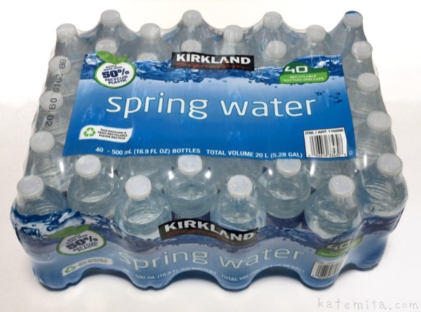 コストコの水『KIRKLAND スプリング ウォーター』がミネラルウォーターで美味しい!