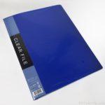 100均セリアの『A4クリアファイル 40P(ブルー)』がシンプルで便利!