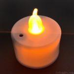 100均セリアの『LEDキャンドルライト(センサースイッチ)』が息でつけて斬新!