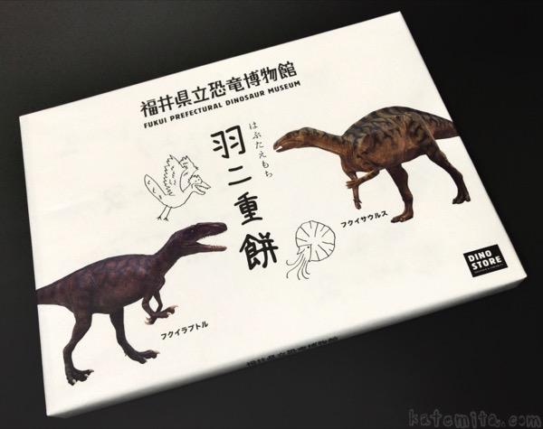 福井県立恐竜博物館のお土産『羽二重餅』が美味しくてインパクトあり!