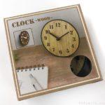 100均セリアの時計『CLOCK-WOOD-』が卓上と壁掛け可能!