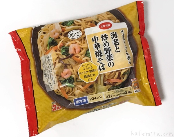 コープの『海老と炒め野菜の中華焼そば』がオイスターソースで美味しい!