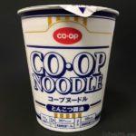 コープのカップ麺『コープヌードルとんこつ醤油』が美味しい!