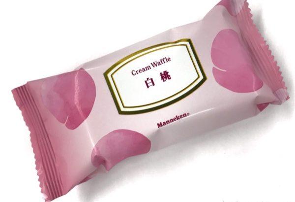 マネケンの『クリームワッフル 白桃』が桃入りで美味しい!