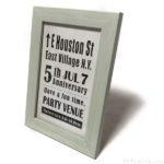 100均の『フォトフレーム マリンカラー』はガラス板付きでポストカードが入って便利!