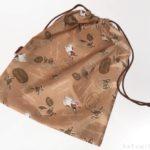 100均でフレンチ・ブルドッグ柄の『キンチャク アニマル』が大きい巾着袋で便利!