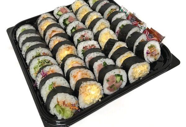 コストコの『バラエティー寿司ロール40貫』が5種類で美味しい!