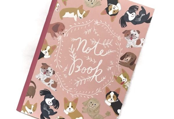 100均の犬デザイン『Note Book』がA5サイズでカワイイ!