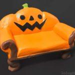 ダイソーで小さな椅子の『ハロウィンミニチュア置物(かぼちゃ)』が可愛い!