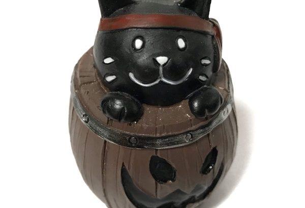 ダイソーの樽にネコ『ハロウィン ミニチュア海賊』が可愛い!