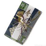 100均のご祝儀袋『ご結婚お祝い用 粋』が鶴付きで青色オシャレ!