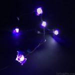 100均のハロウィン用『LEDジュエリーライト(コウモリ)』が紫色でカッコイイ!