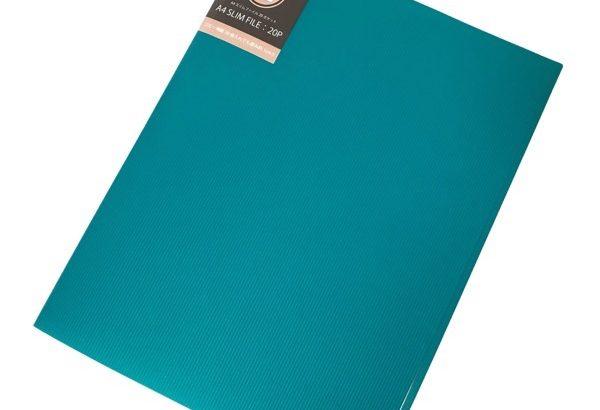 100均の薄型クリアブック『A4スリムファイル20ポケット』がオシャレ!