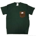coenの『SMITH別注コーデュロイポケットTシャツ(オリーブ)』が深緑でカッコイイ!