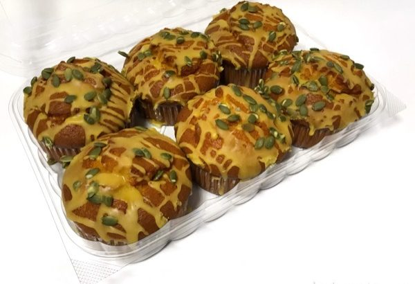 コストコの『パンプキンマフィン』は種が上にのってオシャレで美味しい!