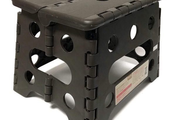 100均セリアの『折りたたみ簡易チェア』がコンパクトな椅子で持ち運び便利!