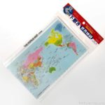 ダイソーの『下敷き 世界地図(B5)』が細かく書いてあって良い!