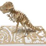 100均セリアのウッドクラフト『恐竜 ティラノサウルス』が骨格でカッコイイ!