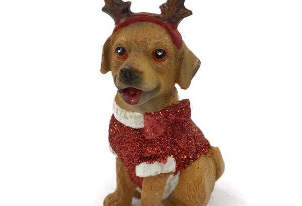 フライングタイガーの犬の置物『クリスマスドギー』がキラキラ可愛い!