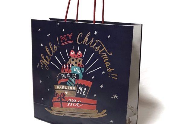 ロフトのクリスマス用紙袋(2018年)が可愛い!