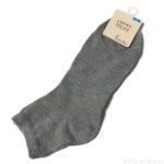 100均の靴下『婦人スニーカー丈ソックス』がシンプルなグレー