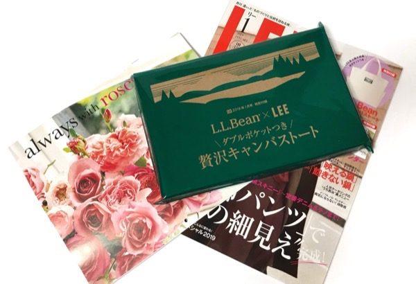 LEE(リー) 2019年1月号の付録『LLBean贅沢キャンバストート』が大きくてオシャレ!