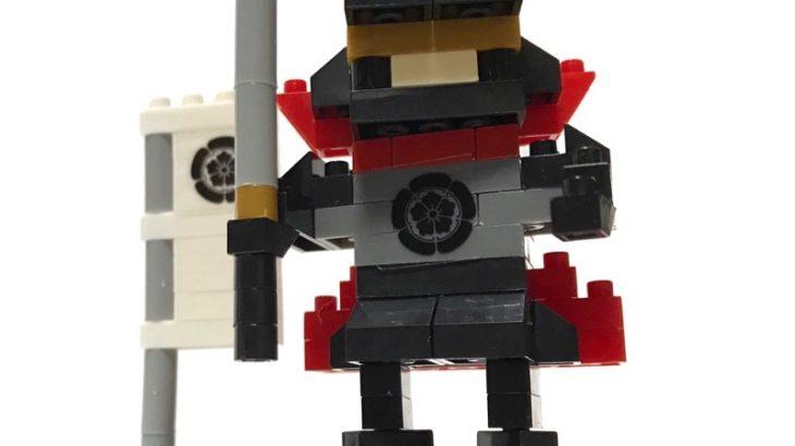 100均セリアの『マイクロブロック 織田信長』はマントがカッコイイ戦国武将!