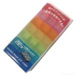 100均の『7デイズピルケース』が薬やビーズに使えるカラフルな虹色で可愛い!
