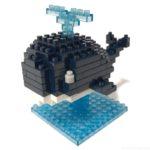 ダイソーの『クジラ(プチブロック)』が潮吹きが噴水みたいで可愛い!