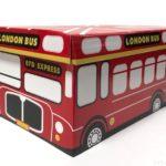 100均のロンドンバス柄『ペーパーボックス1/4サイズ フタ付き』が可愛い!