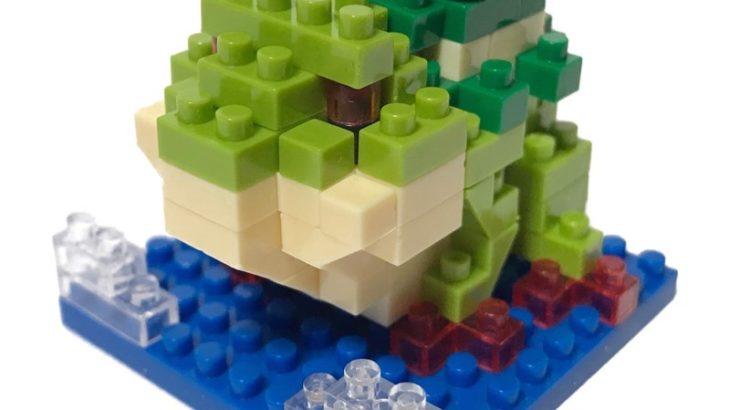 100均セリアの『カエルとミニカエル(マイクロブロック)』が小さくてリアル!