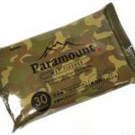 100均のアウトドア用品『ウエットティッシュ Paramount』が迷彩柄でカッコイイ!