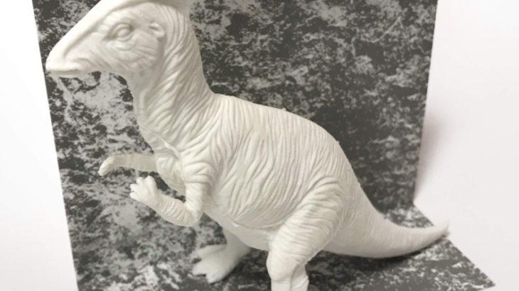 ダイソーの恐竜消ゴム『ダイナソー消しゴム(パラサウロロフス)』が超リアルでスゴイ!