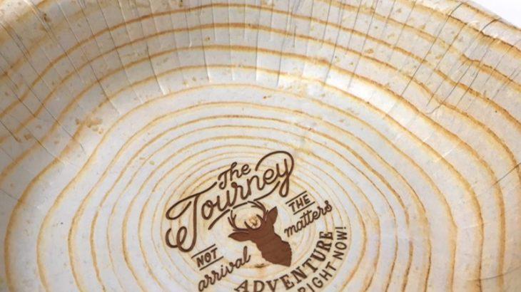 100均の年輪デザインのボウル紙皿『ペーパーボウル ナチュラルウッド 5P』がオシャレでアウトドアに良い!