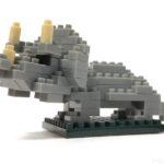100均セリアの『トリケラトプス(マイクロブロック)』が人気の恐竜でカッコイイ!