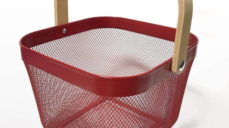 IKEAのバスケット『リーサトルプ』がスチールメッシュな色付きでオシャレ!