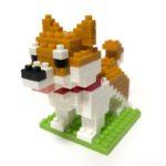 ダイソーの『柴犬(プチブロック)』が尻尾も後ろ姿も可愛い!