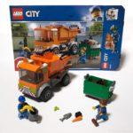 レゴシティの『ゴミ収集トラック』は いろんなパーツで面白い!