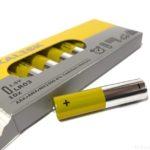 IKEAの単4電池『アルカーリスク』が黄色と銀でオシャレ!