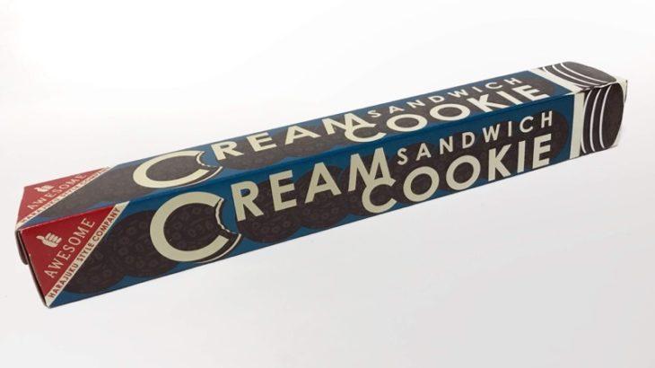 オーサムストアのラップフィルム『クリーム サンドイッチ クッキー』がお菓子なパッケージで可愛い!