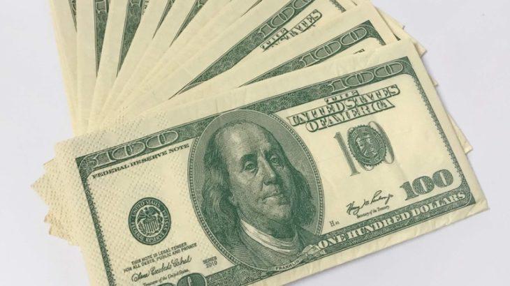 オーサムストアのドル札風『ペーパーナプキン 10P Dollar L』のクオリティが高い!