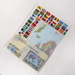 100均の『世界地図』が大きなサイズと国旗で見やすくて便利!