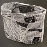 キャンドゥの『自立型 水切りゴミ袋 Sサイズ 25枚』がたっぷり入ってオシャレ!