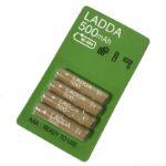 IKEAの単4形 充電式電池『LADDA 500mAh』が低容量でお得!